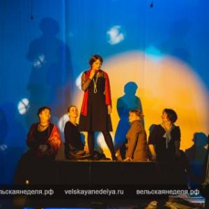 Фоторепортаж со спектакля «Гори, гори, моя звезда» в РКЦ г. Вельска